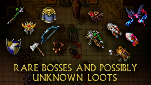 Rare bosses and possibly unknown loots